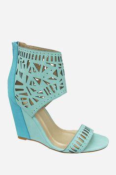 wedg sandal, cutout wedg, wedge sandals