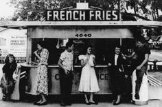 1950's Diner in Tampa, FL. 1950s diner, vintage photographs, vintag photographi, 1950s photo, florida, french fries, tampa, diners, 1951