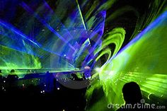 Laser show rave party  © Constantin Opris | Dreamstime.com