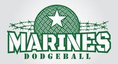 Marines Dodgeball T-Shirt Logo
