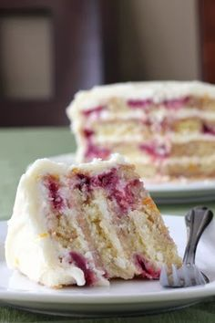 Lemon raspberry yogurt cake