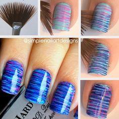 nail art tutorials, nail polish, nail designs, nail art designs, nail arts, paint brushes, nail ideas, fan, stripe