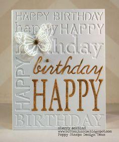 HBbgd birthday die, happy birthdays, birthday background, happy birthday cards, happi birthday, poppi stamp
