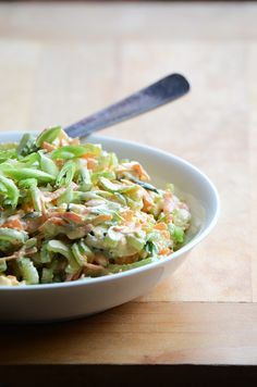Celery and blue cheese slaw