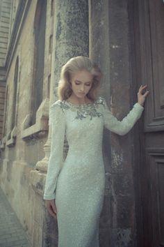 Elegant bridal frock