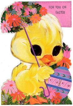 Vintage Easter greeting card.
