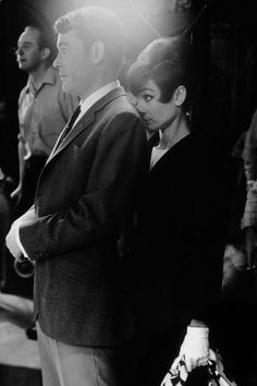 Audrey Hepburn & Peter O'Toole on the set of How To Steal A Million (1966), photographed by Terry O'Neill.
