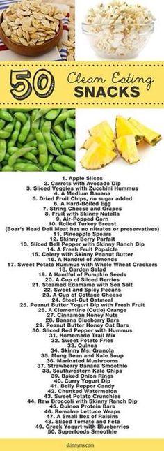 50 Clean Eating Snacks
