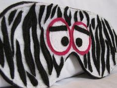 Zebra face sleep mask by walkercrafts on Etsy, $16.00