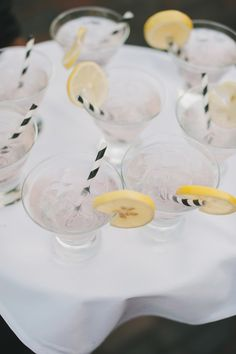 black and white striped straws | Ultra Chic Black + White Wedding in Toronto | Images by Mango Studios