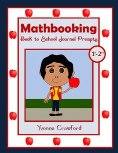 For 1st and 2nd grade - This is a packet of 30 math journal prompts with a back to school theme.