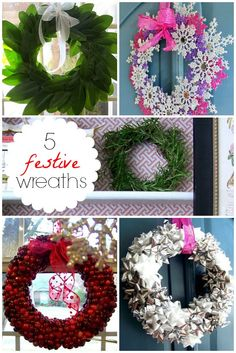 Hi Sugarplum | 5 Easy Holiday Wreaths anyone can DIY