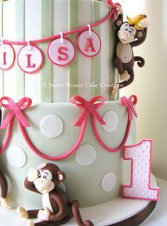 A Silly 1st Birthday Monkey Cake!