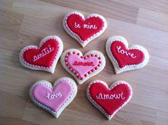 Biscuits de St-Valentin / Valentine cookies