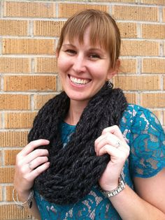 Chunky knit infinity scarf! Super soft and cute! $15 on etsy!