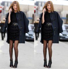 Marinho e Preto #streetstyle #fashion #moda #look #looks #black #shoes #coat #style