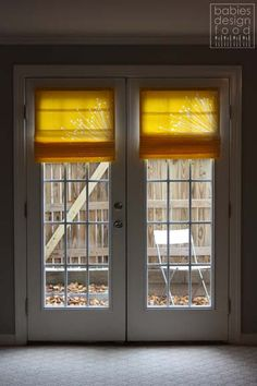 DIY French Door Shades - No Sew!
