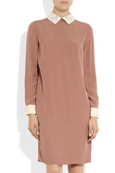 Victoria, Victoria Beckham|Swan collar crepe dress|GBP459.21