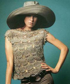 Top Dibujo en Racimos Patron - Patrones Crochet