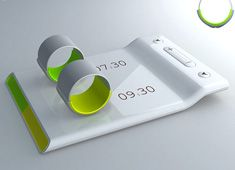 Couples' alarm clock- put the ring on your finger when you go to bed, then it vibrates to wake you up and not your partner