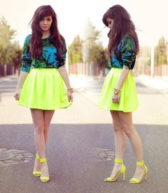 Neon Palms (by Sonja Gje) - http://lookbook.nu/look/4838725-Neon-Palms