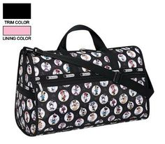 LeSportsac Minnie Mouse Large Weekender bag. #MinnieStyle