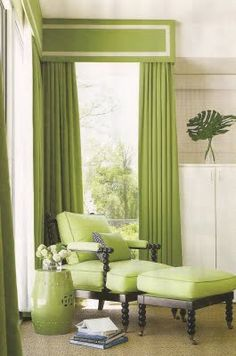 Curtains in Family Room