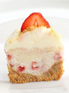 Christy's Strawberry Cheesecake Cupcakes