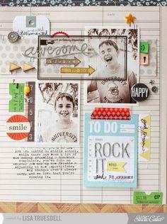 #papercraft #scrapbook #layout  Lisa Truesdell #SCSockHop