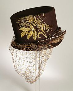 1945 Hat by Lilly Daché via The Los Angeles County Museum of Art