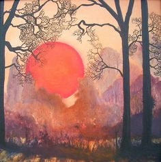 artists, oil paintings, tree, color, saatchi onlin, onlin artist, sun spill, bella gingel, paint sun