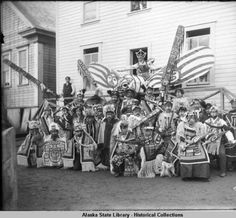Guests from Angoon at 1904 Sitka potlatch. :: Alaska State Library-Historical Collections