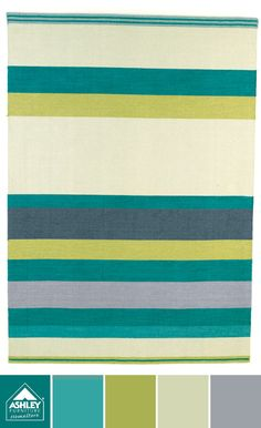 A sweet and bold rug with stripes! (Harriston Rug - Ashley Furniture HomeStore)