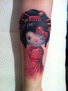 Hello Kitty Geisha Tattoo