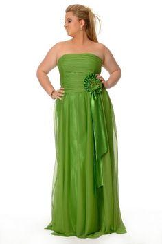 leaf green plus size dress