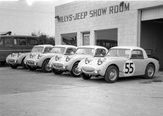 Austin Healey Sprites at Sebring 1959