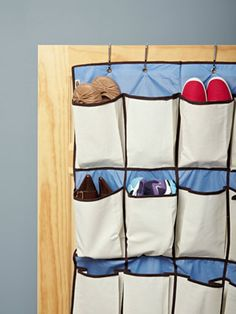 Help your favorite college student make the most of a small dorm closet with the Rubbermaid 20-Pocket Shoe Organizer. This over-door storage has deep pouches that can stash up to a men's size 13.