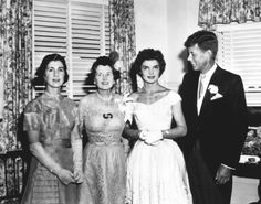 Jackie's mother, Janet Auchincloss, Rose Kennedy, Jackie Jack, September 12, 1953