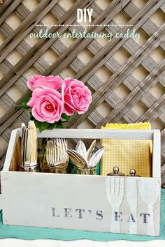 DIY Outdoor Entertaining Caddy #PaintYourWay #PMedia #ad