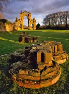 The ruins of Gisborough Priory, An  Augustinian priory founded  in 1119, North Yorkshire, England