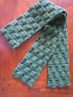 Illuminate Crochet: Men's Crochet and Basketweave Scarf, tutorial on next page