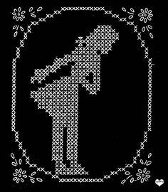 Vintage Cross stitch pattern free chart