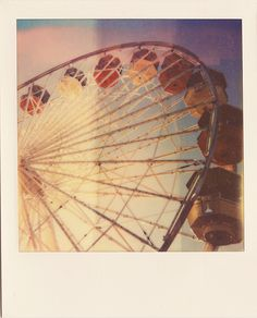 Ferris wheels and old Polaroid cameras seem to go well together.
