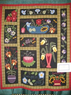 floral quilted wallhanging