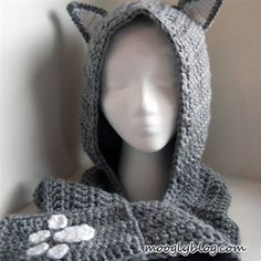 Cuddly Cat Crochet Scoodie with Pockets - Crochet Me