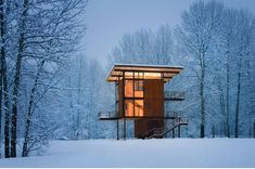 washington state, houses, architects, winter cabin, dream, shelters, snow, cabins, homes