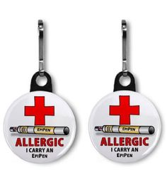 Amazon.com: ALLERGY ALERT EPIPEN 2-Pack of 1 inch Zipper Pull Charms: Everything Else