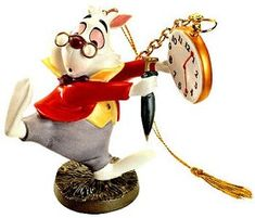 *WHITE RABBIT ~ WDCC Disney Classics_Alice In Wonderland White Rabbit No Time To Say Hello-Goodbye