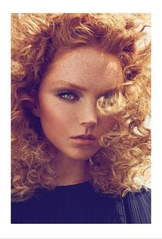Supermodel Lily Cole freckl, red hair, ginger, lili cole, long hair, lily cole, redhead, fashion magazines, fashion shooting