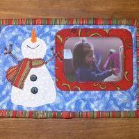 Snowman Photo Mug Rug Pattern - via @Craftsy